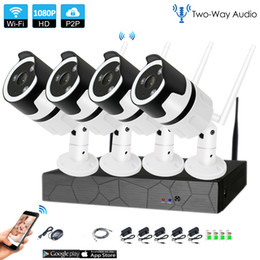 system securities Canada - 4CH two way audio camera 1080P HD Wireless NVR Kit P2P 1080P IR Night Vision Security 2.0MP IP Camera Wireless CCTV System