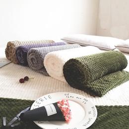 $enCountryForm.capitalKeyWord Australia - Solid color mesh Soft skin blanket coral carpet velvet towel sofa blanket velvet small