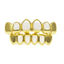 dental alloys NZ - New Luxury Hip Hop Designer Dental Grills Hollow Out Gold Women Teeth Grills Top & Bottom Grill Set Jewelry for Party