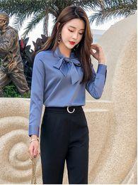 $enCountryForm.capitalKeyWord Australia - New Chiffon Design for Blouse Female Spring Garment 2019 Lace-up Korean Bottom Shirt