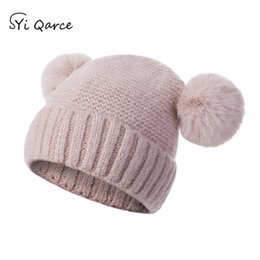 Old Winter Beanies NZ - SYi Qarce High Quality Baby Hat Spring Autumn Winter Super Warm Knitted Hat Best Gift for 1-4 Years Old Girl's Boy's NM063-69