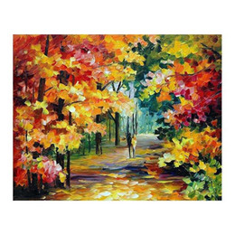 White Tree Life Painting Australia - 30x40 Hand-painted oil painting white birch wood painting living room sofa wall decoration European villa tree-lined path