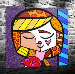 self portraits paintings Australia - Romero Britto Self Portrait,HD Canvas Printing New Home Decoration Art Painting (Unframed Framed)marvel Villains