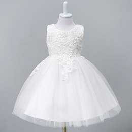 $enCountryForm.capitalKeyWord Australia - 1-8Year Toddler Baby Tutu Dress White Red Ball Gown Party Stage Princess Dresses Bridesmaid Flower Girl Clothes Vestido InfantilMX190912