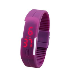 $enCountryForm.capitalKeyWord Australia - Unisex Led Digital Wristwatch Display Touch Screen Watch Student Rectangle Candy Rubber Belt Silicone Bracelets Outdoor Sports Wrist Watches