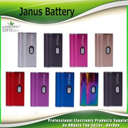 Original Airis Janus Caixa Mod 650mAh Bateria 2 In1 Para 510 Cartucho De Óleo De Espessura e Compatível Pods Vape Mods 100% Authentic Airistech em Promoção