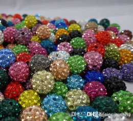 crystal multi flower necklace NZ - free shipping 10mm 200pcs lot mixed multi color Crystal crystal Bead Bracelet Necklace Beads.Hot spacer beads Lot!Rhinestone DIY i4242 w62