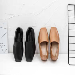 $enCountryForm.capitalKeyWord Australia - 2019 women flats Cow leather soft flats yellow color square toe spring autumn comfortable casual flats shoes party dress
