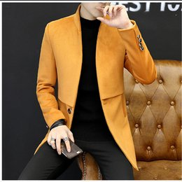 smart clothes Australia - New Arrivals 2018 Smart Casual Formal Wool Mens Clothing Overcoats Fashion Winter Dress Coat Mens Plus Size