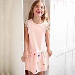 European Princess Clothes Australia - European and American style brand children's clothing wholesale Summer new girl dress cotton children's short sleeve princess dress
