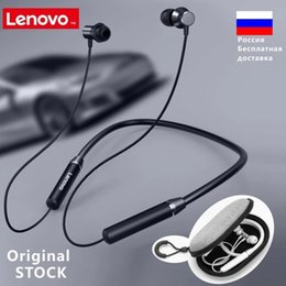 lenovo headphones bluetooth Canada - onsumer Electronics Lenovo HE05 Bluetooth 5.0 Neckband Earphone Wireless Stereo Sports Magnetic Headphones Sports Running IPX5 Waterproof...