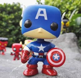 marvel wholesale mini figures NZ - low price Funko Pop Captain America Marvel Comics Bobble Exclusive Vinyl Action Figure With Box #386 Gift Doll Toy