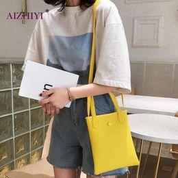 girls fashion simple handbags 2019 - Teen Girls Fashion Solid Color Button Handbag Women Large Capacity Shoulder Messenger Bags Female Casual Simple Crossbod