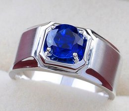 love rings male 2019 - Luxury Male Female Blue Stone Ring Cute Silver Color Wedding Finger Rings For Women Promise Love Couple Engagement Ring