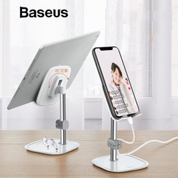 Adjustable Metal Stand For Tablet Australia - Baseus Metal Mobile Phone Stand Holder for iPhone XR 8 iPad Adjustable Desk Phone Holder Stand for Samsung Xiaomi Tablet Holder