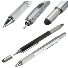 function screwdriver Australia - 7 color novel Multifunctional Screwdriver Ballpoint Pen Multi Function Pens Touch Screen Metal Gift School office supplie stationery pen