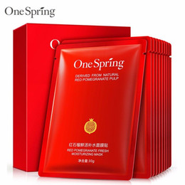 face masks sheets NZ - OneSpring Red Pomegranate Facial Mask tony moly Moisturising Whitening Mask korean Beauty Masks for Face Sheet Mask Skin Care
