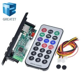 mp3 circuit NZ - ctive Components Integrated Circuits GREATZT Newest Arrival 1pcs Wireless Bluetooth 12V MP3 WMA Decoder Board Audio Module USB TF Radio F...