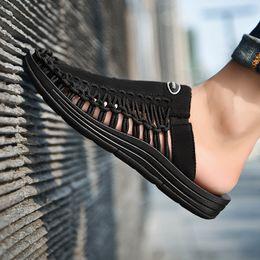 Trend Sandals Australia - Hot2019 Man Trend Cool Slipper Leisure Time Beach Shoes Weave Rome Sandals Summer