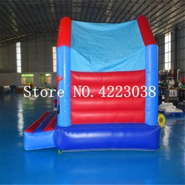 Discount inflatable toys castle - Free Shipping Children Trampoline Bouncer House Inflatable Bouncer Castle Inflatable Slide Castle Modle Toy For Kids