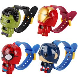 Wholesale New Kids Avengers deformation watches New Children Superhero cartoon movie Captain America Iron Man Spiderman Hulk Watch toys