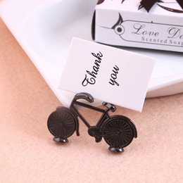 wedding bicycle Australia - Mini Metal Bicycle Place Card Holder Travel Wedding Decoration Table Centerpieces Wedding Guest Name Sign WB570