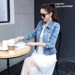 $enCountryForm.capitalKeyWord NZ - Summer Autumn Denim Jacket Women 2019 Three Quarter Slim Cotton Light Washed Short Jeans Jacket Coats AH433