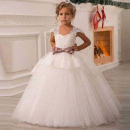 $enCountryForm.capitalKeyWord Australia - Kids White Dresses Girls Wedding Birthday Prom Gown Girl New Year Costume Princess Dress For Children 6 14 Years Clothing J190611
