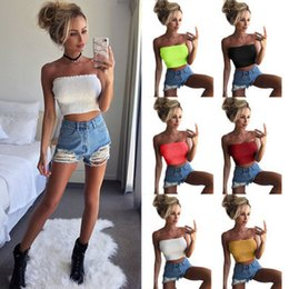658bb1d239 Sexy Lady Solid Ruffle Tube Intimates Women Strapless Ruched Elastic Boob  Bandeau Bra Lingerie Underwear Wrap Crop Tops C190416
