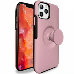 building brackets NZ - Cell Phone Case Cover Built-in Expanding Grip Stand Holder Protect Case with Grip Phone Bracket Holder For iPhone 11 pro MAX XS XR