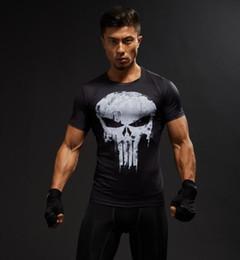 4xl Compression Shorts Australia - Short Sleeve 3D T Shirt Men T-Shirt Male Crossfit Tee Captain America Superman tshirt Men Fitness Compression Shirt Punisher XS-4XL