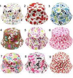 $enCountryForm.capitalKeyWord Australia - 30 Colors Outdoor hat Children grid Bucket Hat Casual Flower Sun Printed Basin Canvas Topee kids fisherman caps Baby Beanie Caps D0742