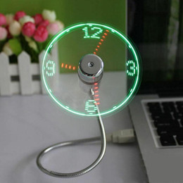 coolest gadgets Australia - Adjustable USB Gadget Mini Flexible LED Light USB Fan Time Clock Desktop Clock Cool Gadget Real Time Display