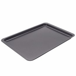 Oven baking mOld online shopping - Eco Friendly E Show Inch Rectangle Carbon Steel Non Stick Baking Pan Cookies Plate Cake Mold Use In Oven Base Tray Black