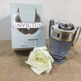 Célèbre Invictus par Rabanne 3,4 oz EDT Cologne pour hommes Parfum 100ML longue durée Time Bonne Haute Qualité Parfum en Solde