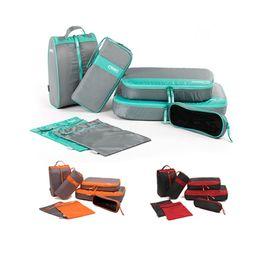 Types Set Clothes Australia - 7pcs Travel Storage Bag Set Suitcase Pouch Travel Organizer Bag Case Usb Cable Charger Holder Clothing Shoes Underwear Luggage Bra Bag