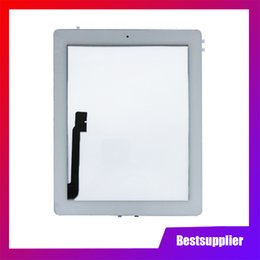 apple ipad touch tablet UK - For iPad 3 4 iPad3 iPad4 A1416 A1430 A1403 A1458 A1459 A1460 Touch Screen Digitizer Sensor Glass Panel with Home Button Free DHL