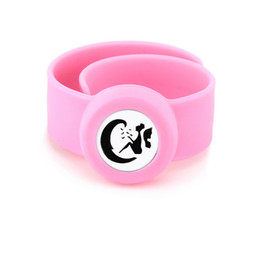 $enCountryForm.capitalKeyWord UK - Angel on moon Charm Bracelet Kid Silicone Slap Bracelets Essential Oils Diffuser Wristband Anti-Mosquito Bracelets For Kids PB113