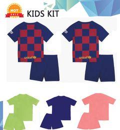 $enCountryForm.capitalKeyWord Australia - 2018 2019 MESSI Kids kit Soccer Jersey RAKITIC SUAREZ PIQUE Home Away Child Suit Football Shirts A.INIESTA Umtiti Short Jerseys