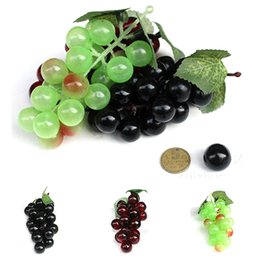 plastic grapes home decor UK - Mini Simulation Fruit 3pcs lot Artificial Fruit Grapes Plastic Fake Decorative Lifelike Home Wedding Party Garden Decor