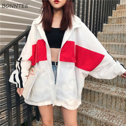 women summer jackets clothing 2019 - Jackets Women Chic Summer Loose All-match Trendy White Daily Korean Style Harajuku Leisure Womens Clothing Long Sleeve F