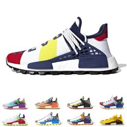 7f249daff 2019 NMD Human Race Pharrell Williams X BBC Yellow Black Nerd Sports  Running Shoes designer Men Shoes Women sneakers With Box