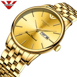 Mens Fashion Luxury Sport Watch Australia - Nibosi Mens Watches Top Brand Luxury Business Quartz Gold Watch Men Full Steel Fashion Waterproof Sport Clock Relogio Masculino Y19051703