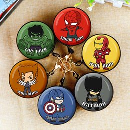 cartoon wedding gift boxes NZ - Cute Spiderman Mini Bag Cartoon Batman Ironman Coin Purse kids Girls Wallet Earphone Box Bags Wome Wedding Gift Christmas Gift