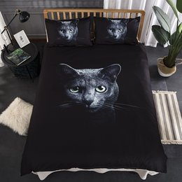 modern single beds Australia - Duvet Covers With Pillowcases 3D Print Black Cat Bedding Sets 2 3 Pcs Size Single Twin Double Queen King Size