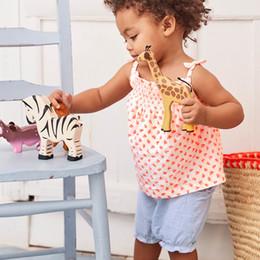 Cute Casual spring outfits online shopping - Baby Girl Clothing Sets Casual Children Clothing Sets with Animals Appliques Cute Kids Outfit