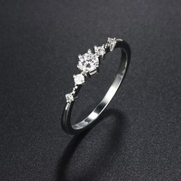 $enCountryForm.capitalKeyWord Australia - Marquise Cut Engagement Rhinestone Ring for Women Cluster Bridal Rings Wedding Jewelry Dainty Female Finger Ring