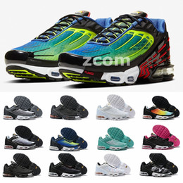 running shoes for men tn Canada - 2020 Tn Plus III 3 Turned Running Shoes for Men Womens Sneakers Rainbow requin tns chaussures mercurial Trainers Scarpe Sports Zapatos