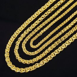 $enCountryForm.capitalKeyWord Australia - 2019 Hot sale 3.5mm 4mm 5mm 6mm*50cm 20inch plated 925 Silver 18K gold necklace Men's Necklace Twisted Necklace Fashion jewelry