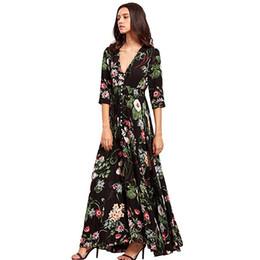 Brand Long Maxi Dress Print Plus Size Sexy Casual Summer Beach Clothes Women  Vestidos Render Elegant Robe Boho Party Club Dress Y19012201 fbc2191ad365